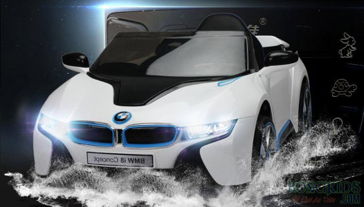 Xe Ô Tô Điện Trẻ Em I8 (2028) - Ghế Da Cao Cấp