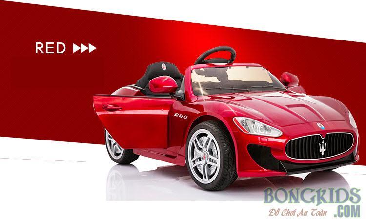Xe ô tô điện trẻ em Maserati YH-6388 đỏ