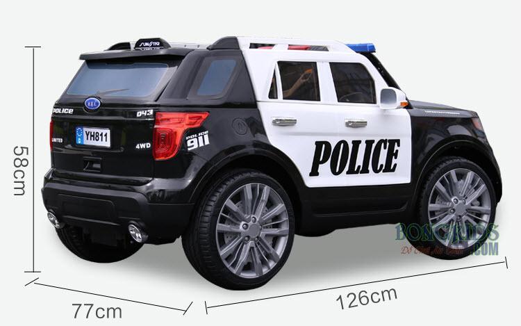 Xe ô tô điện trẻ em cảnh sát YH-811 Kích thước
