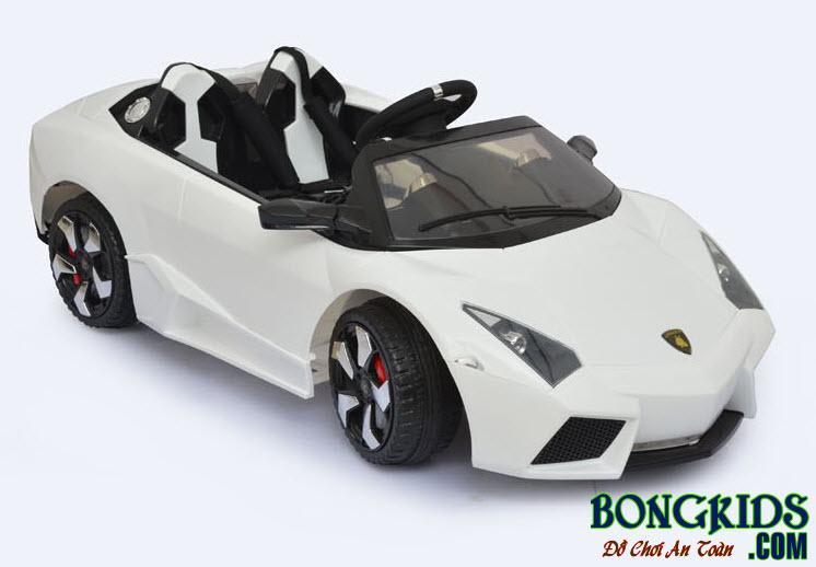Xe ôtô điện LS 518 cho trẻ em - Màu trắng