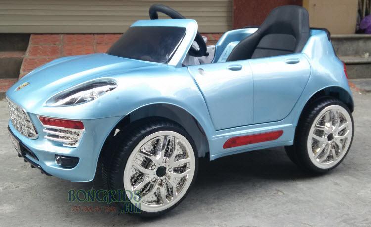 Xe ô tô điện trẻ em Porsche WMT-5188 màu xanh