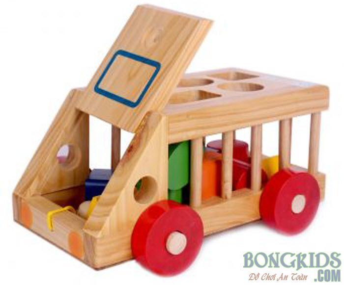 Ô tô thả hình gỗ 2
