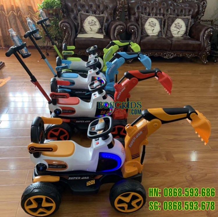 Xe cần cẩu điện cho trẻ em 9188 full color