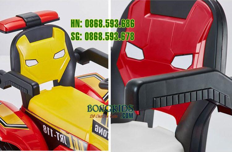 Xe cần cẩu điện cho trẻ em JRT-118 chi tiết ghế