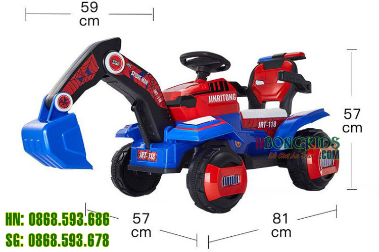 Xe cần cẩu điện cho trẻ em JRT-118 size