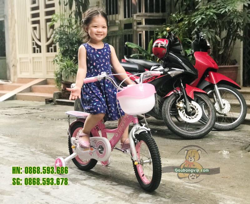 Xe đạp trẻ em 150 màu hồng  7