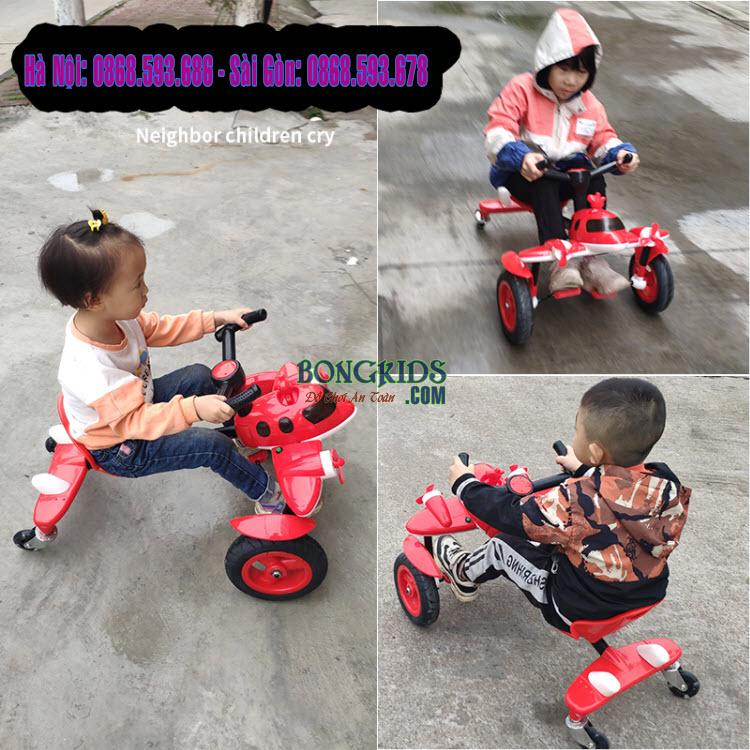Xe đạp drift đầu máy bay cho trẻ em bé nào cũng thích