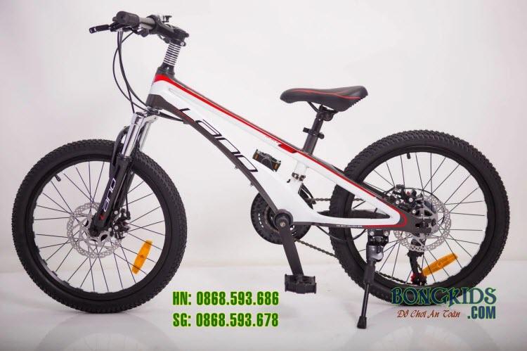 Xe đạp trẻ em LANQ VA210 20inch (7-12 tuổi) màu trắng