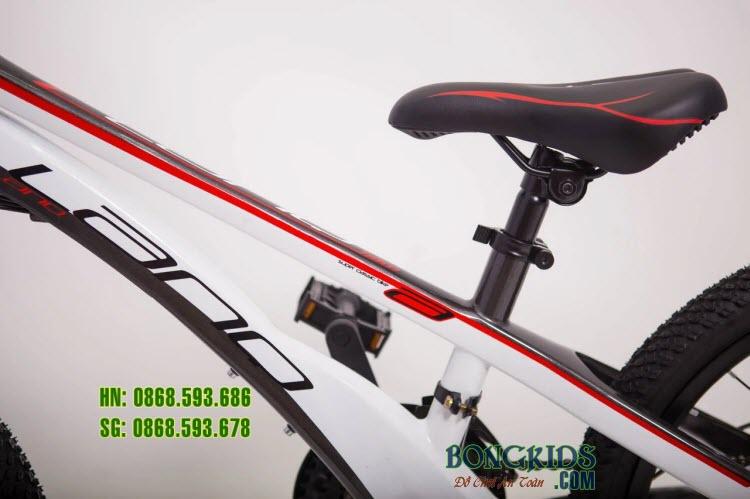 Xe đạp trẻ em LANQ VA210 20inch (7-12 tuổi) khung trắng