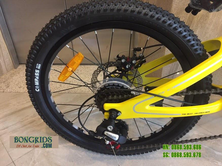 Xe đạp trẻ em LANQ VA210 20inch (7-12 tuổi) bánh xe