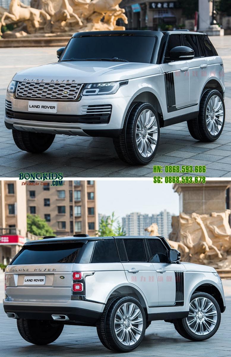 Xe ô tô điện trẻ em DKRR999 màu trắng