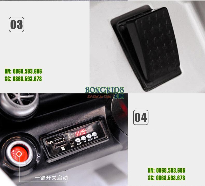 Chi tiết Xe hơi điện trẻ em HD011