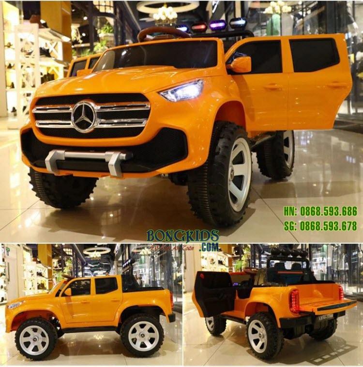 Xe ô tô điện trẻ em Mercedes ABM-3388 màu cam