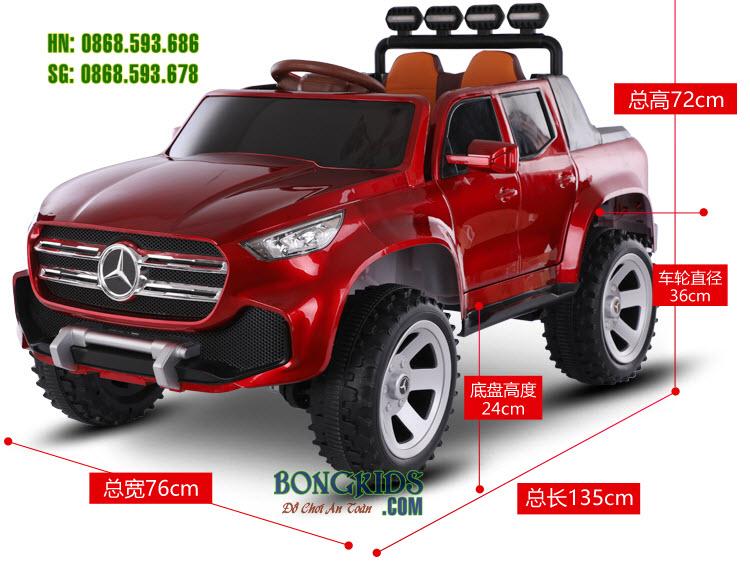 Kích thước Xe ô tô điện Mercedes ABM 3388