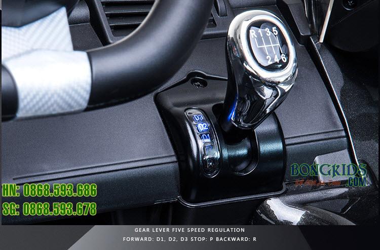 Xe ô tô điện trẻ em Lamborghini 6726R -cần số 3 mức tiến