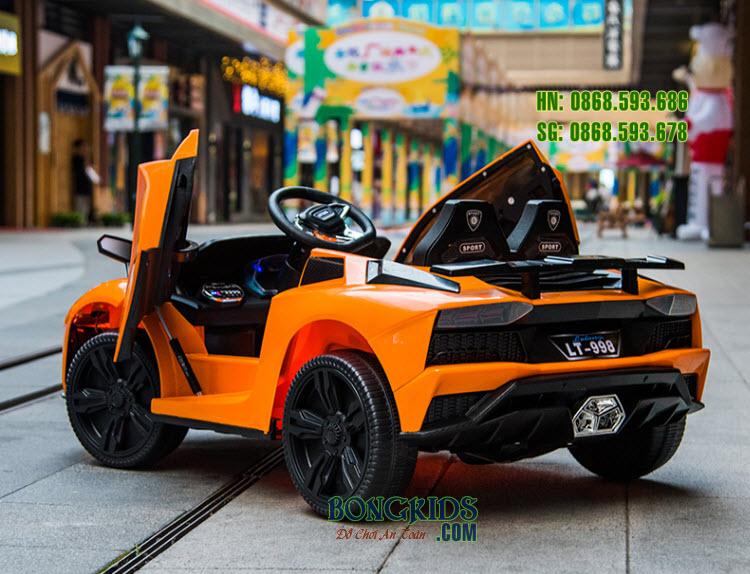 Xe ô tô điện trẻ em LT-998 màu cam phía sau