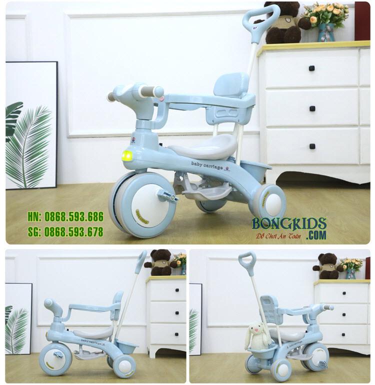 Xe đạp 3 bánh 688 Baby Carriage màu xanh
