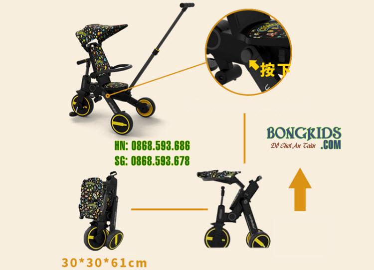 Xe đạp 3 bánh cao cấp SL1688 chính hãng Uonibaby 15