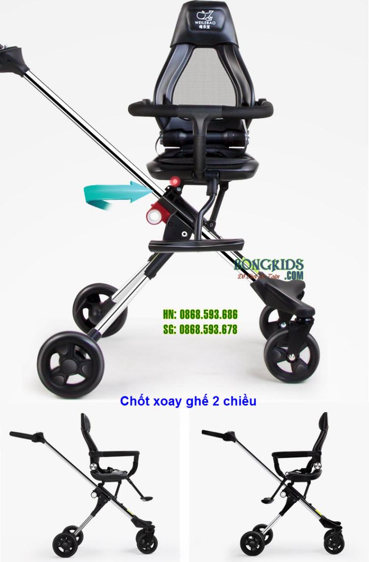 Xe đẩy thông minh 4 bánh Ride X1 NEW - Ghế xoay chiều 1