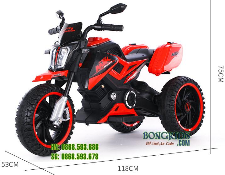 Kích thước Xe máy điện trẻ em BDQ-8101